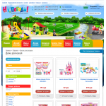 Купить - Готовый интернет магазин детских товаров (ярко, легкий дизайн для быстрой отдачи страниц)